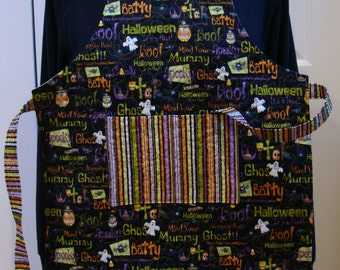 Boo Ghost--Child's Quilted Apron