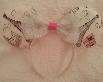 Paris Themed Mickey Mouse Ears