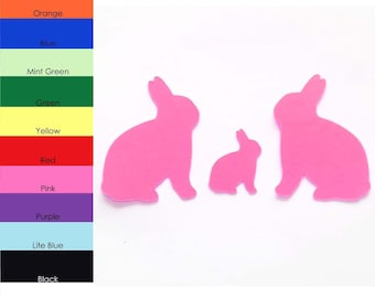25 Pack - Paper Bunny Shape, Rabbit Die Cut, Bunny Cut Outs, Crafting Supplies, Paper Shapes