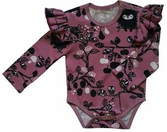 Long Sleeve Organic Cotton Bodysuit,Baby Vest, Toddler Long Sleeve Body, Organic Cotton Kids Clothes
