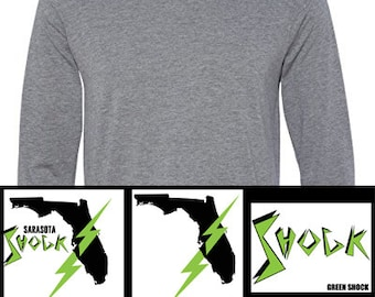Men's Long Sleeve Jersey Tee: Choose from 2 colors & 3 Designs