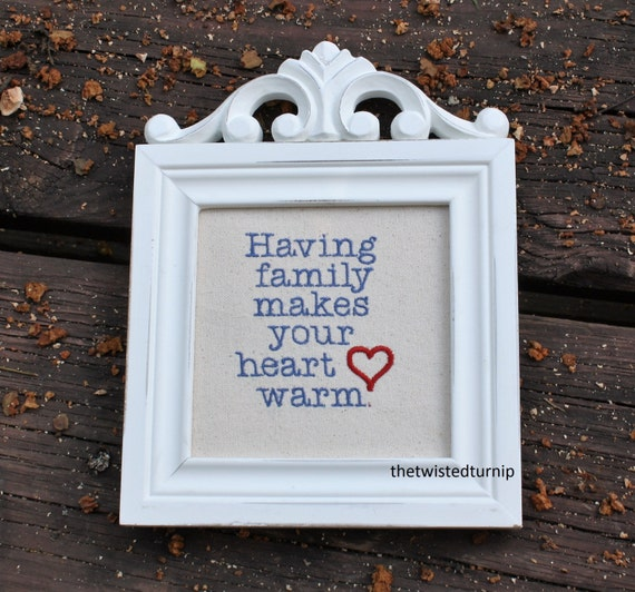 Family Heart Saying Grandma's Original Embroidery Design Instant Download