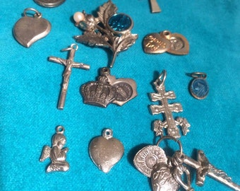 Lot of Vintage Religious Charms