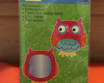 Owl Mirror felt craft project for kids by BusyKids Kids Camp