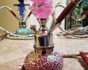 Colorful Glass  Hand Crafted Hookahs