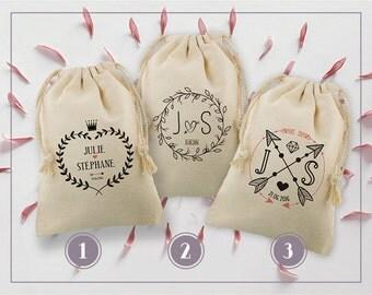Set of 2 small bags wedding - 5 models