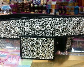 Belt law fine.925 Silver thread embroidery