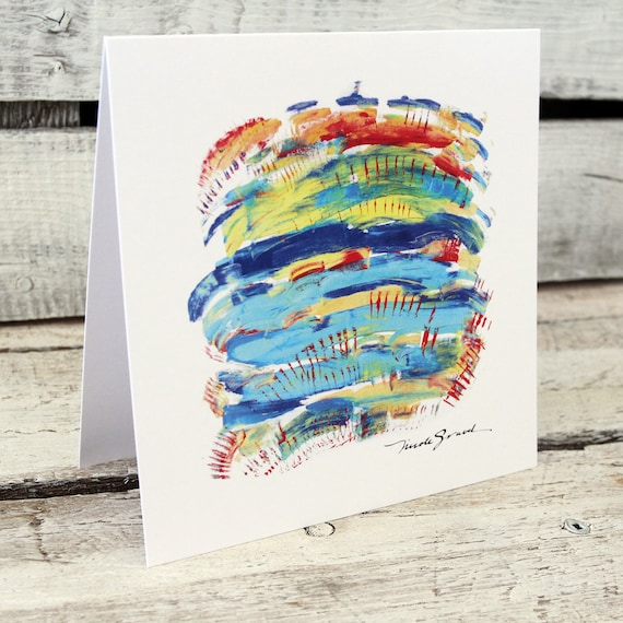 OASIS TURQUOISE greeting card