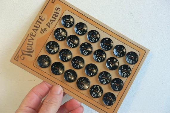 nouveaute de paris vintage buttons artt deco buttons from. Black Bedroom Furniture Sets. Home Design Ideas