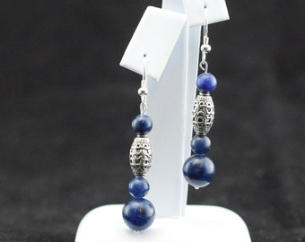 Sodalite and Silver earrings