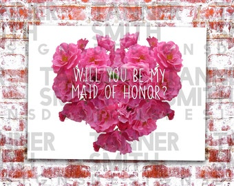 Will You Be My Maid of Honor? Card | Tanner Smith Designs