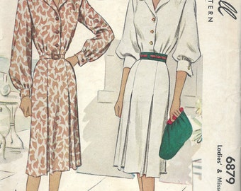 "1947 Vintage Sewing Pattern B40"" DRESS (1647) McCall  6879"