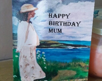 Black Ethnic greeting card- (message inside blank ) Mothers day ,