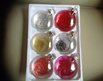 Christmas Ornaments 2.5 in set of 6