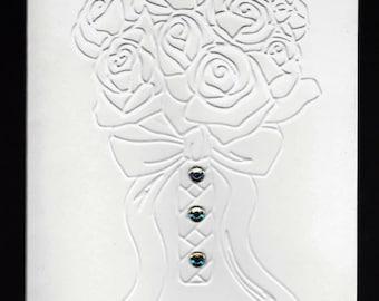 Set of 5 Bridal Bouquet CLASSIC Wedding Cards