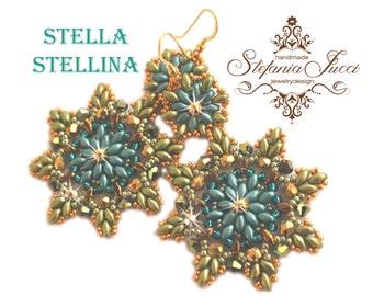 MATT Green gold-earrings