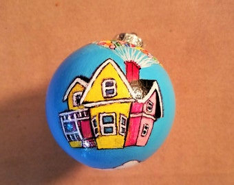 Up theme holiday ornament Up house with balloons
