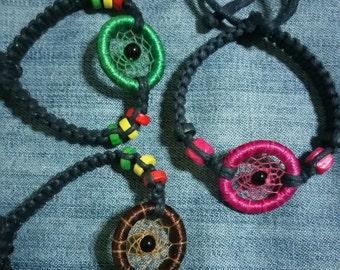 Woven dream catcher bracelet