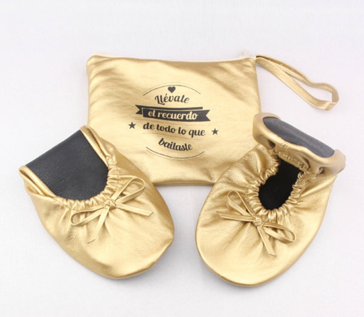 Personalized Wedding Slippers Bridal Party Slippers: Personalized Rollable Flats Wedding Flats For Guest Foldable