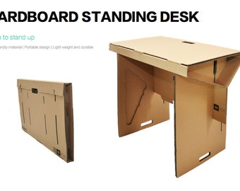 Portable Standing Desk - Cardboard Sit-Stand Workstation for Working in a Stand Up Office