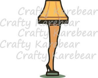 Leg Lamp SVG and DXF Digital File Download