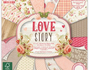 "64 papers Fantaisis ""First Edition"" 15.2 cm LOVE STORY"