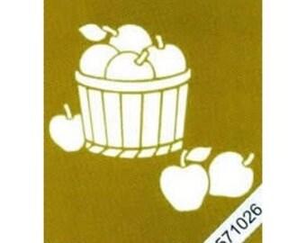 1 stencil brass stamping 7 x 8 cm basket of apples