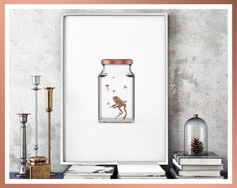 Copper Large & Small Wall Art Prints, Modern Design, Limited Edition, Signed, Copper, Minimalist Art