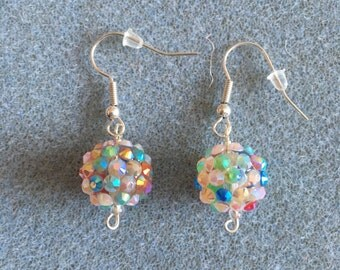 sparkly bead drop earrings