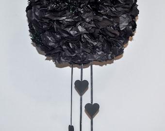 Black Pomander | Kissing Ball | Pom Flower Ball - CLEARANCE