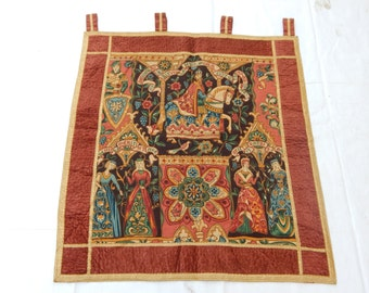 Vintage French Beautiful Medieval Style English Design Print Tapestry 017
