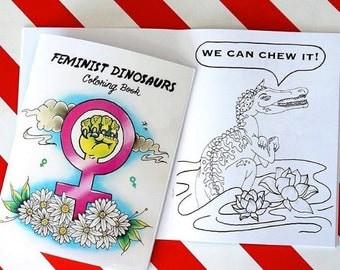 Feminist Dinosaurs Coloring Book