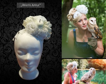 Headdress 'White Apple' flower head dress