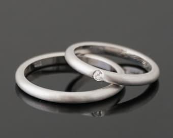 DELICATE engagement rings & FINE white gold 8 k or 14 k