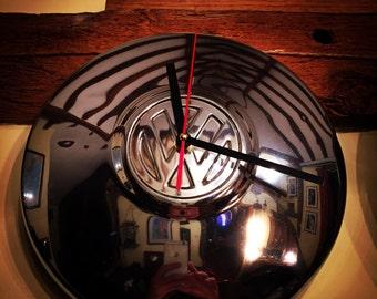 VW Hub Cap Clock