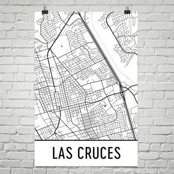 Las Cruces Map Las Cruces NM Art Las Cruces Print Las