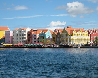 Colorful House on the water front- Print your own wall art