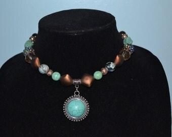 Turquoise Charm Choker