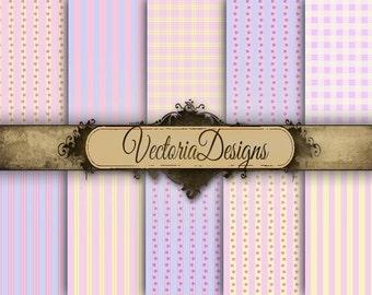 Pastel Paper Pack 12 x 12 inch digital paper pack instant download printable digital collage sheet VD0426