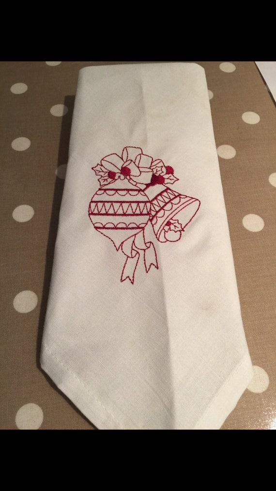Christmas bauble napkin