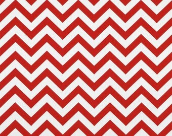 Red Chevron fabric zigzag fabric red and white supplies premier prints fabric christmas decor home decor fabric