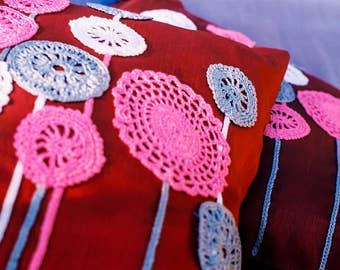Decor handmade pillow covers made from natural eco materials