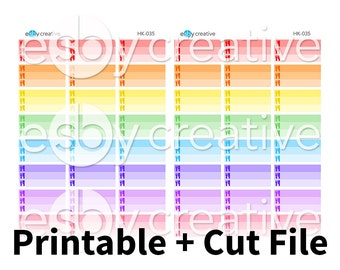 Mealplan (x3) Little Things Box Planner Stickers - for Erin Condren Horizontal Printable INSTANT DOWNLOAD - HK-035