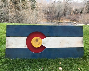 Beetle Kill Pine Colorado Flag Sign