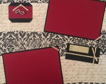 12x12 Premade Scrapbook Page- Wedding