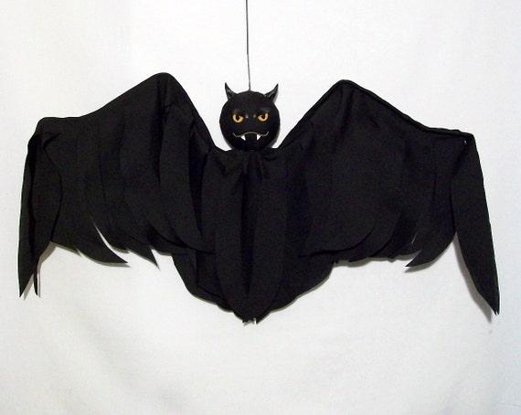 RESERVED FOR J. M.  Outdoor Halloween Decoration Hanging Bat Flyer Yard Art