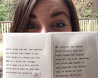 Who invented the phrase half-sister?; anger-issues clearly; sister card; original hand-typed card; ginger hendrix original