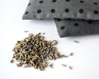 Organic Lavender Sachets in Grey Dots Holiday Hostess Gift Drawer Sachet Set of 2