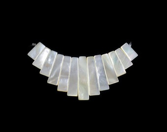 Mother Of Pearl Shell Stick Collar Pendant Gemstone Beads