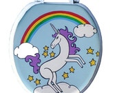 Unicorn and Rainbow Toilet Seat Hand Painted by Debbie Is Adopted